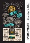 food truck menu for street fest.... | Shutterstock .eps vector #1126677503