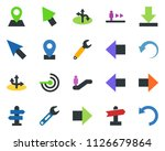colored vector icon set  ... | Shutterstock .eps vector #1126679864