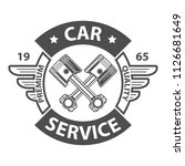 repair station logo. | Shutterstock .eps vector #1126681649