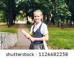portrait of a female student ... | Shutterstock . vector #1126682258