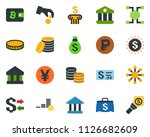 colored vector icon set  ... | Shutterstock .eps vector #1126682609