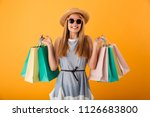 portrait of a cheerful young... | Shutterstock . vector #1126683800