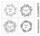 simple wedding wreaths. | Shutterstock .eps vector #1126688879