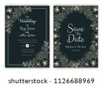 floral hand drawn frame for a... | Shutterstock .eps vector #1126688969