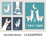 llama  alpaca collection  cute... | Shutterstock .eps vector #1126689833