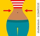 slim waist  thin waist  flat...   Shutterstock .eps vector #1126692110