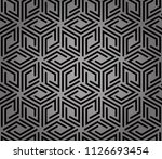 abstract geometric pattern with ... | Shutterstock .eps vector #1126693454