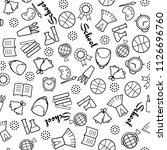 back to school. monochrome... | Shutterstock .eps vector #1126696760