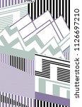 zig zag geometric design and... | Shutterstock . vector #1126697210