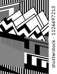 zig zag geometric design and... | Shutterstock . vector #1126697213