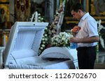 editorial use only. burial... | Shutterstock . vector #1126702670