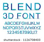 3d alphabet. vector set of... | Shutterstock .eps vector #1126708403