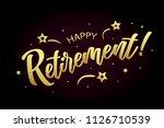 happy retirement card  banner.... | Shutterstock .eps vector #1126710539