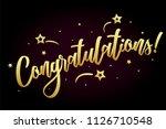 congratulations card  banner.... | Shutterstock .eps vector #1126710548