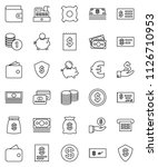 thin line vector icon set  ...   Shutterstock .eps vector #1126710953