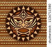 ethnic symbol mask of the maori ... | Shutterstock .eps vector #1126711580