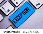 word writing text exception.... | Shutterstock . vector #1126714223