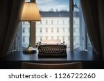 workplace of a writer ... | Shutterstock . vector #1126722260
