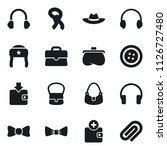 set of simple vector isolated... | Shutterstock .eps vector #1126727480