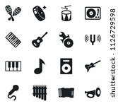 set of simple vector isolated... | Shutterstock .eps vector #1126729598