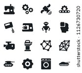 set of simple vector isolated... | Shutterstock .eps vector #1126730720