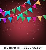 festive background with... | Shutterstock .eps vector #1126732619