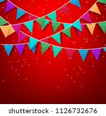 festive background with... | Shutterstock . vector #1126732676
