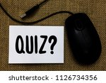 word writing text quiz question.... | Shutterstock . vector #1126734356