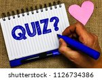 writing note showing quiz... | Shutterstock . vector #1126734386