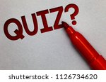 text sign showing quiz question.... | Shutterstock . vector #1126734620