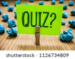 word writing text quiz question.... | Shutterstock . vector #1126734809