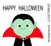 count dracula headwearing black ... | Shutterstock .eps vector #1126739810