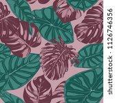 vector tropic seamless pattern. ... | Shutterstock .eps vector #1126746356