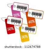 set of isolated sale tags.... | Shutterstock .eps vector #112674788