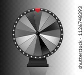 fortune wheel. black and white... | Shutterstock .eps vector #1126748393