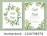 wedding invitation frames with... | Shutterstock .eps vector #1126748576