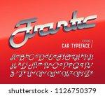 vintage car typeface named ... | Shutterstock .eps vector #1126750379