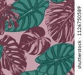 vector tropic seamless pattern. ... | Shutterstock .eps vector #1126750589