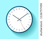 clock icon in flat style  round ... | Shutterstock .eps vector #1126757450