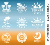 summer holidays design elements ... | Shutterstock .eps vector #1126758650