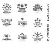 summer holidays design elements ... | Shutterstock .eps vector #1126762109
