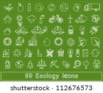 50 doodle ecology elements ... | Shutterstock .eps vector #112676573