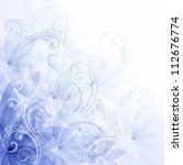 flowers blue background. raster ... | Shutterstock . vector #112676774
