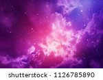 space of night sky with cloud... | Shutterstock . vector #1126785890