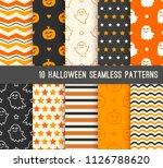 ten halloween different... | Shutterstock .eps vector #1126788620