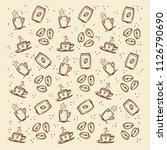 warm hand drawn pattern about... | Shutterstock . vector #1126790690