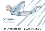 drawing vector of skydiving.... | Shutterstock .eps vector #1126791599