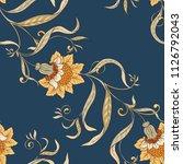 floral seamless pattern ... | Shutterstock .eps vector #1126792043