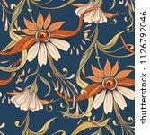 floral seamless pattern ... | Shutterstock .eps vector #1126792046