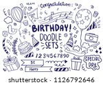 happy birthday background. hand ... | Shutterstock .eps vector #1126792646